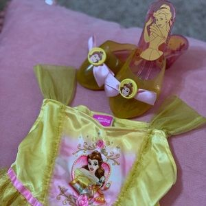 Disney Princess Belle dress and matching shoes